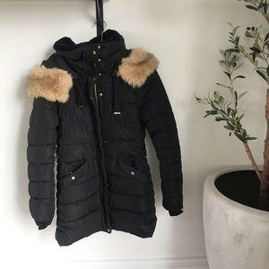 Zara Water Repellent Puffer Coat